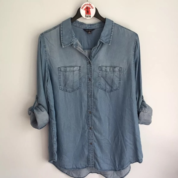 466a6a9c Terre Bleue Tops | Soft Blue Chambray Button Down Shirt | Poshmark